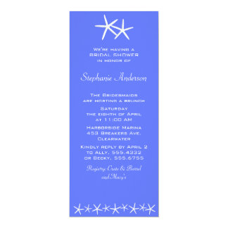 """Two Stars Shower Invitations, Delphinium 4"""" X 9.25"""" Invitation Card"""
