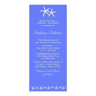 Two Stars Shower Invitations, Delphinium 4x9.25 Paper Invitation Card