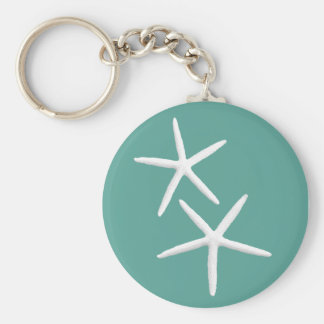 Two Stars Teal Key Ring