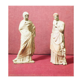 Two statues of standing women from Tanagra Canvas Print