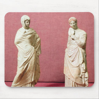 Two statues of standing women from Tanagra Mouse Pad