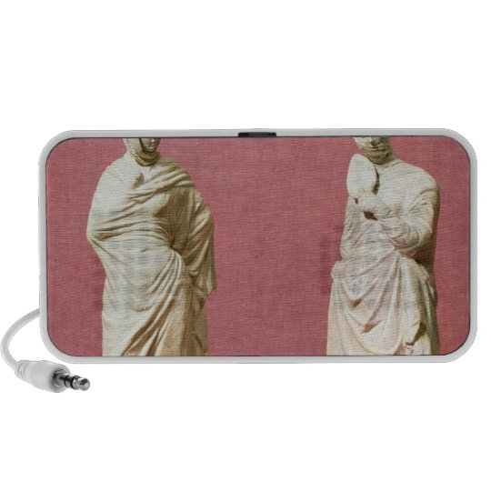 Two statues of standing women from Tanagra Portable Speaker