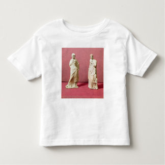 Two statues of standing women from Tanagra Toddler T-shirt