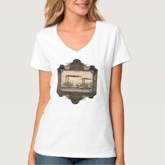 Two Steamboat on River. Age of Steam #010. T-shirt