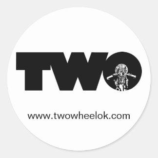 TWO Sticker
