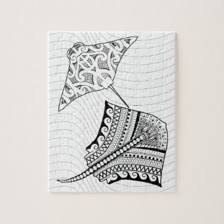 Two Stingrays Adult Coloring Puzzle