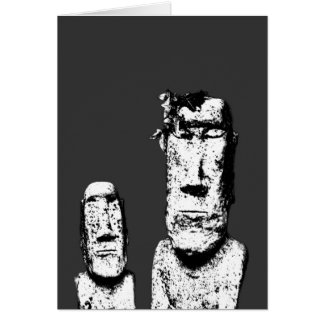 Two Stone Heads (the Eds) greeting card