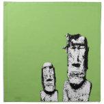 Two Stone Heads (the Eds) napkin set