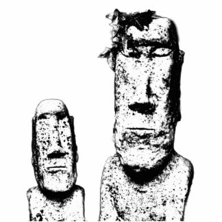 Two Stone Heads (the Eds) Photo Sculpture