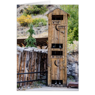 Two-Story Outhouse - John - Bathroom - Humor Greeting Card