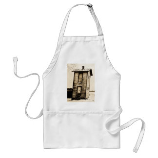 Two Story Outhouse - VIntage Adult Apron