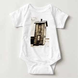 Two Story Outhouse - VIntage Baby Bodysuit
