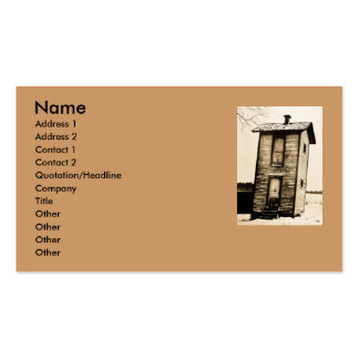 Two Story Outhouse - Vintage Business Card