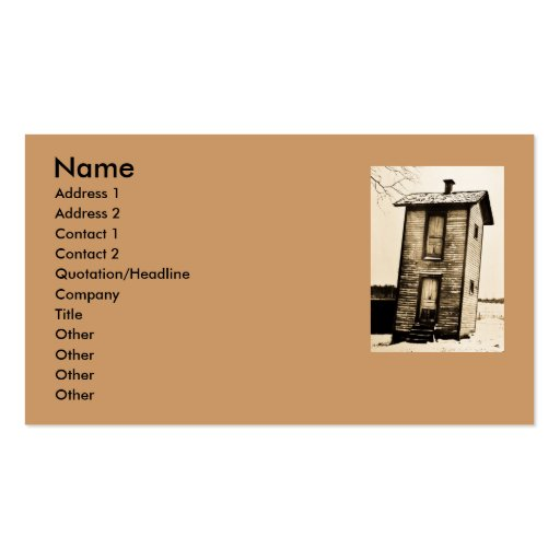 Two Story Outhouse - Vintage Business Cards