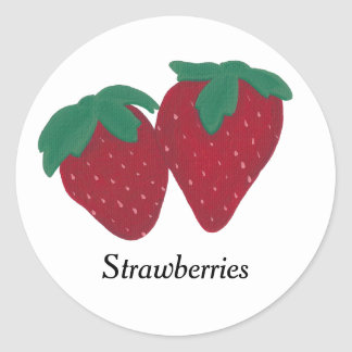 Two Strawberries Strawberry Education Stickers