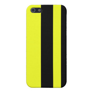 Two stripes on kung-fu yellow iphone case
