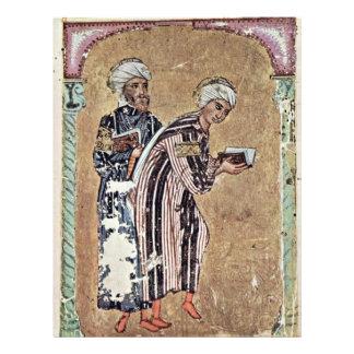 Two Students By Syrischer Maler Des Kräuterbuchs D Flyer