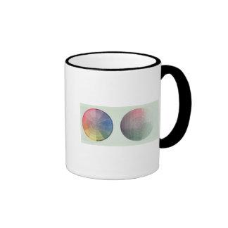 Two studies of cross and longitudinal section ringer coffee mug