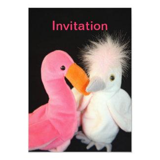 Two Stuffed Birds  Invitation