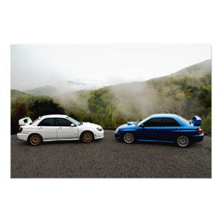 Two Subarus in the Smoky Mountains Photo Print
