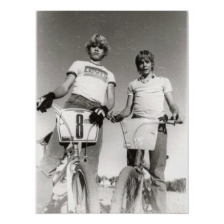 Two subject vintage BMX print (Can Enlarge.)