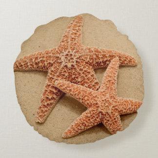 Two Sugar Starfish Round Pillow