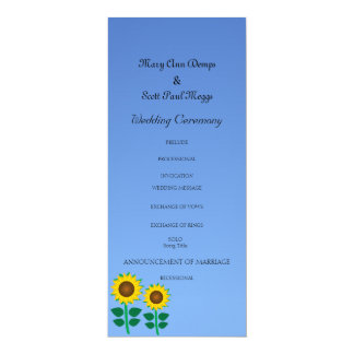 Two Sunflower Card