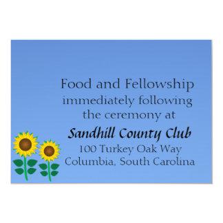 Two Sunflower Personalized Invite