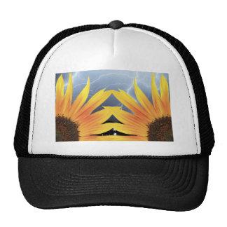 Two Sunflower Lightning Storm Trucker Hat