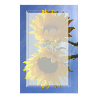 Two Sunflowers Blank Stationery
