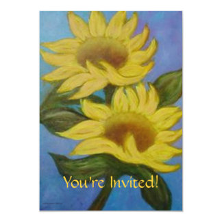 Two Sunflowers by LaurevaM Invitation