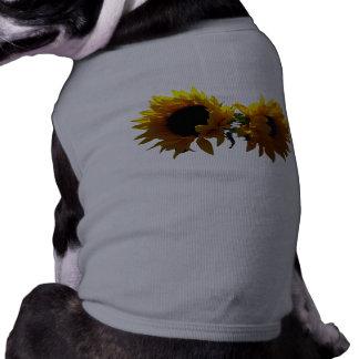 Two Sunflowers Dog Shirts