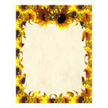 Two Sunflowers Flame Letterhead