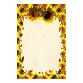 Two Sunflowers Flame Stationery
