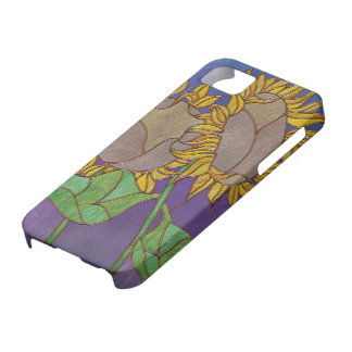 Two Sunflowers Stained Glass Look iPhone 5 Cover
