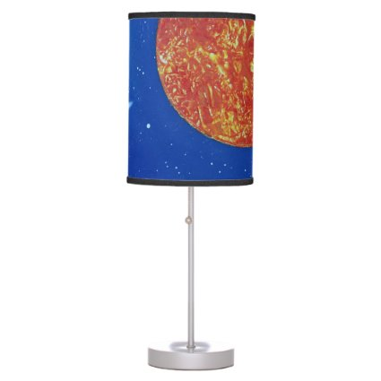 two suns blue background spacepainting desk lamp