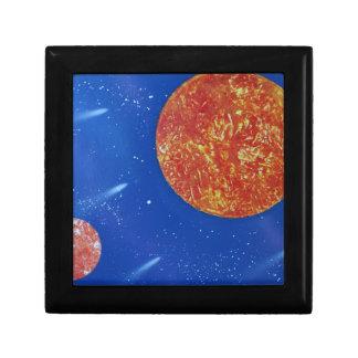 two suns blue background spacepainting keepsake box
