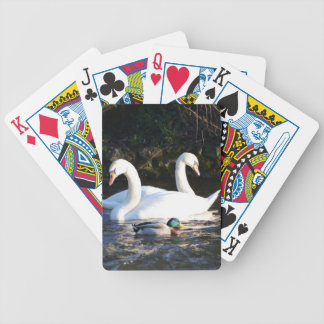 Two Swans And A Duck Bicycle Playing Cards