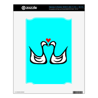 Two Swans and a Heart NOOK Skin