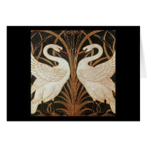 Two Swans by Walter Crane vintage illustration