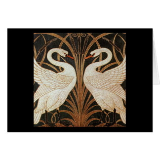 Two Swans by Walter Crane vintage illustration Greeting Cards