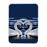 Two swans flexible magnets