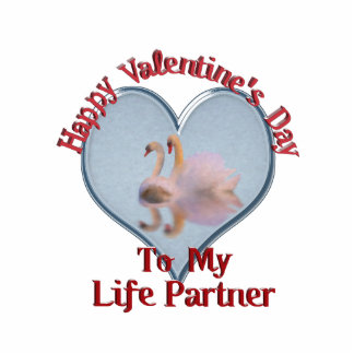 Two Swans - Happy Valentine's Day, Life Partner Cutout