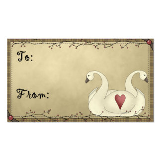 Two Swans - Holiday/Occassion Gift Tags Business Card