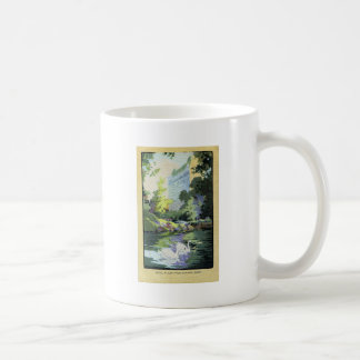Two Swans in Central Park Lake Coffee Mug