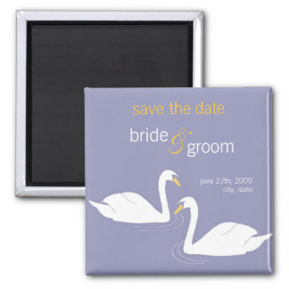 Two Swans Save the Date Announcement Magnet