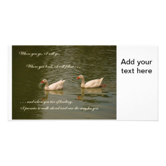 Two Swans - Wedding Theme Card