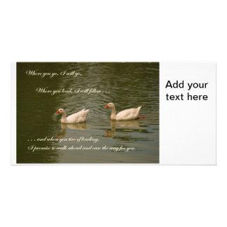 Two Swans - Wedding Theme Card