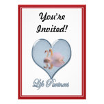 """Two Swans (with Blue """"Life Partners"""" Text) Custom Invite"""