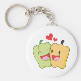 Two Sweet Bell Pepper Lovers Keychain
